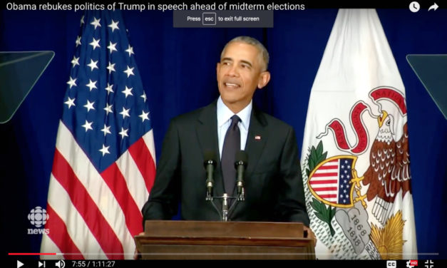 Barack Obama:  The Most Important Speech of 2018