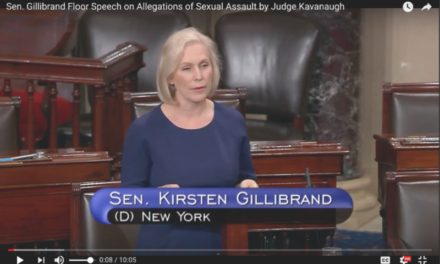 Sen. Gillibrand Floor Speech on Allegations of Sexual Assault by Judge Kavanaugh