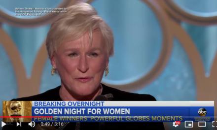 Glenn Close honors, empowers women in Golden Globes speech