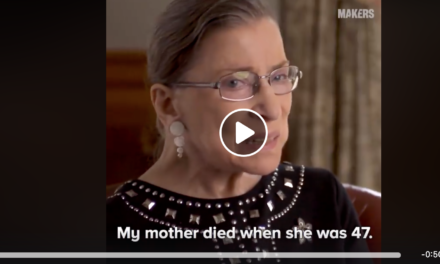 Ruth Bader Ginsburg shares her mother's best advice