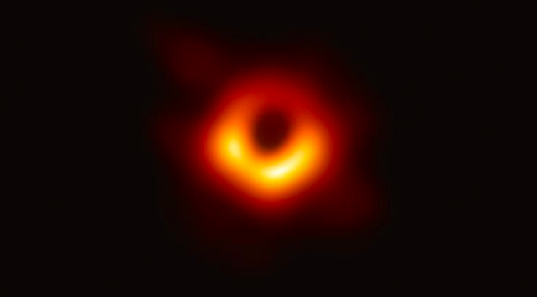This is the first photo of a black hole