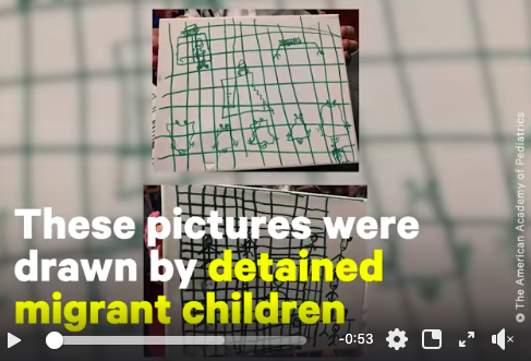 Detained migrant children drew these heartbreaking pictures after being recently released