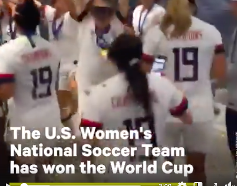 The U.S. Women's National Soccer team has won the 2019 FIFA World Cup, securing the global title yet again